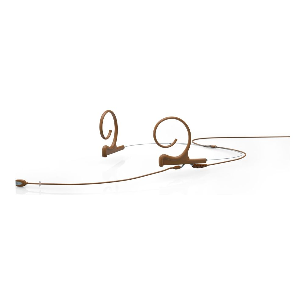 DPA Omnidirectional Headset, Brown, Long 110 mm, Dual Ear, Microdot (Adaptor Required)