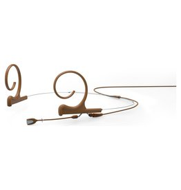 DPA Omnidirectional Headset, Brown, Short 40 mm, Dual Ear, Microdot (Adaptor Required)