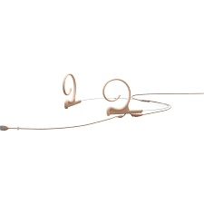 DPA Omnidirectional Headset, Beige, Long 110 mm, Dual Ear, Microdot (Adaptor Required)