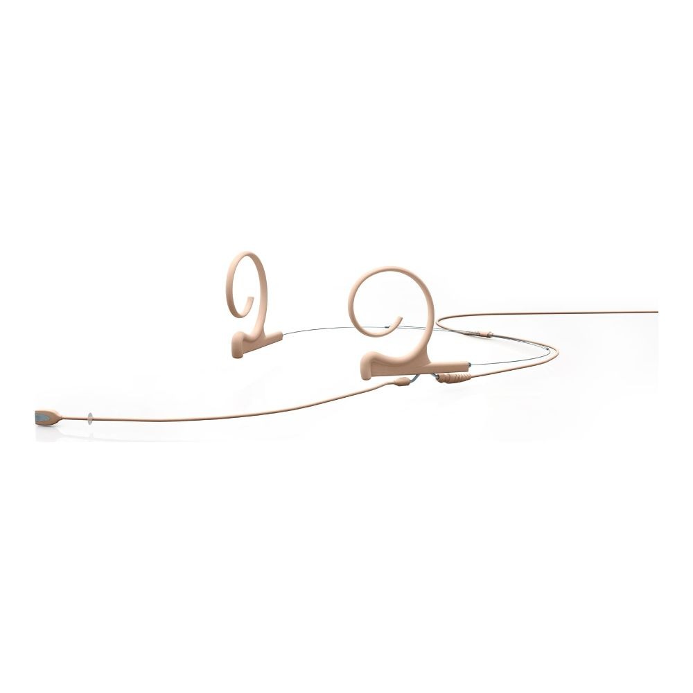 DPA Omnidirectional Headset, Beige, Long 110 mm, Dual Ear, Hardwired 3 Pin Lemo for Senn.