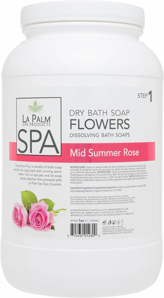 La Palm Flower Soap Mid Summer Rose Single