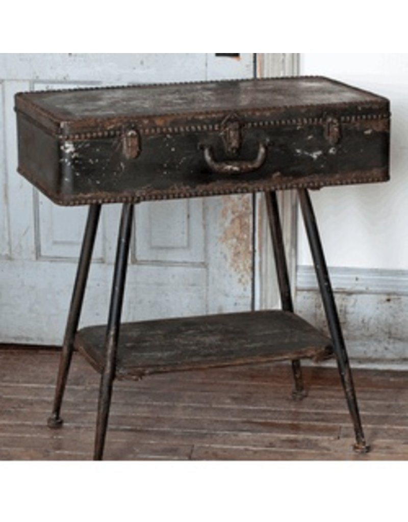 PARK HILL- METAL SUITCASE SIDE TABLE