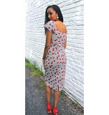 JUSTINE FITTED DRESS W/CHERRIES