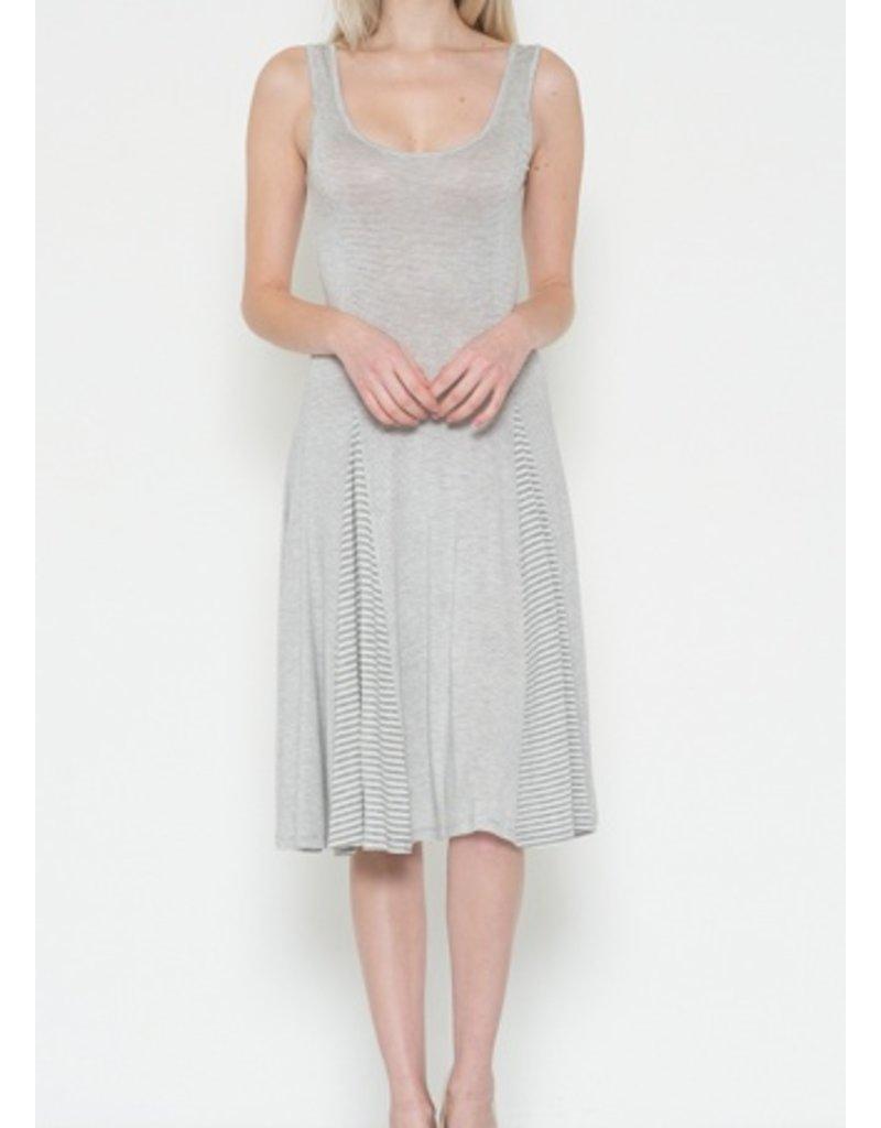 INSERTED STRIPES DRESS