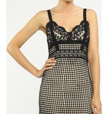 CATERINA CAGED LACE DRESS
