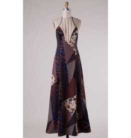 PATSY PATCHED MAXI DRESS