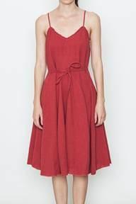 Front Tie Mid Dress
