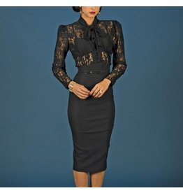 SEVILLE FITTED DRESS LACE TOP