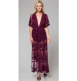 BRONNER LACE MAXI ROMPER