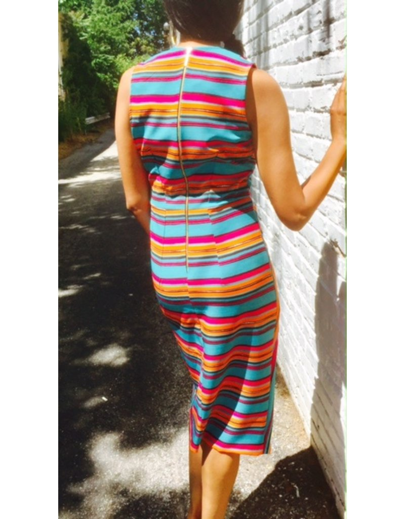 STRIPE V-NECK DRESS