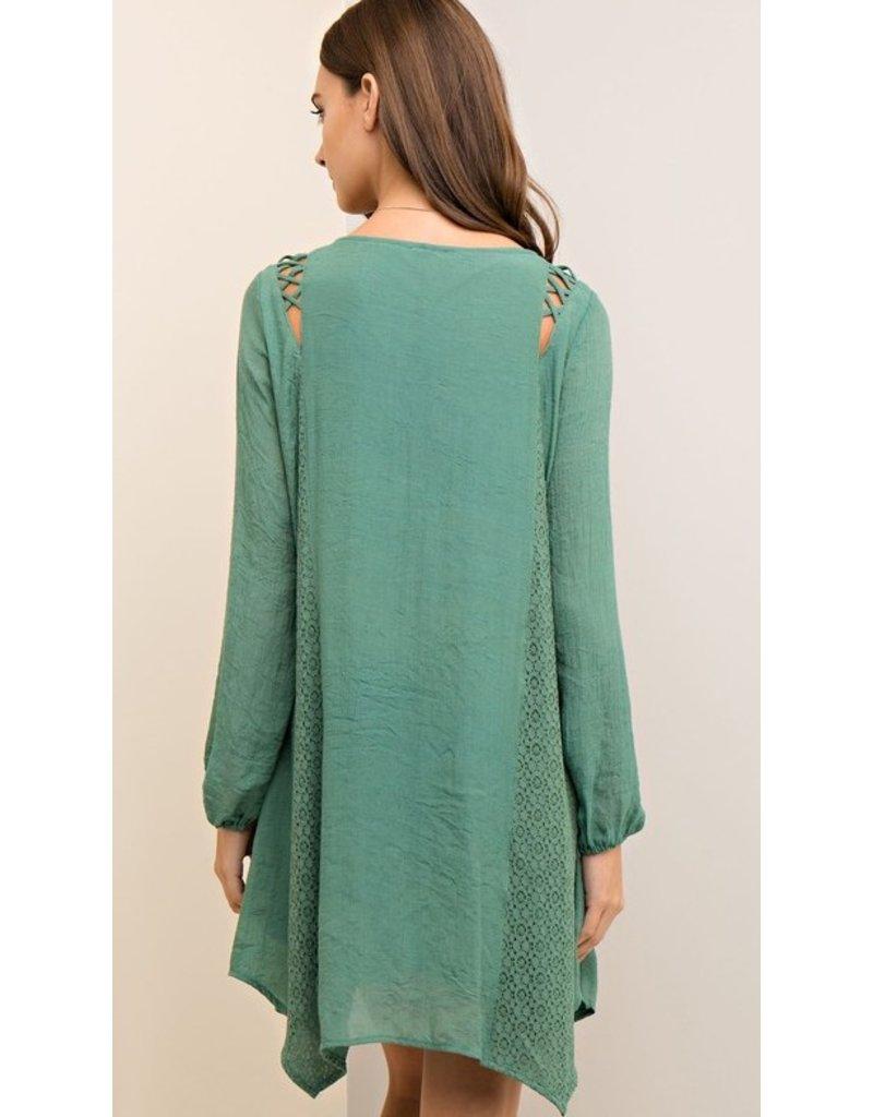 CRINKLE SHIFT DRESS