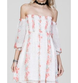 CHRISSY CREAM FLORAL DRESS