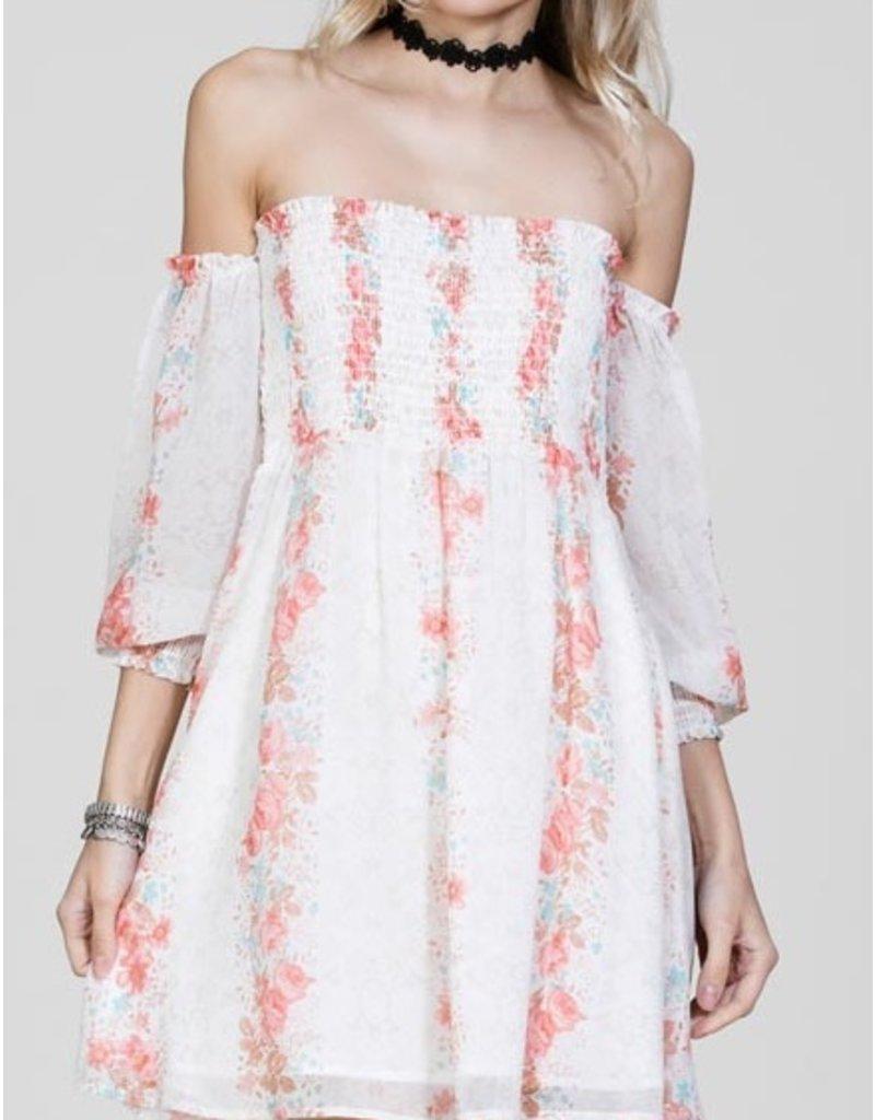 CHRISSY CREAM FLORAL DRESS
