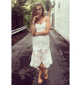 SERENA LACE EYELET DRESS