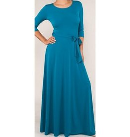 BRIDGE BASIC MAXI DRESS- JADE