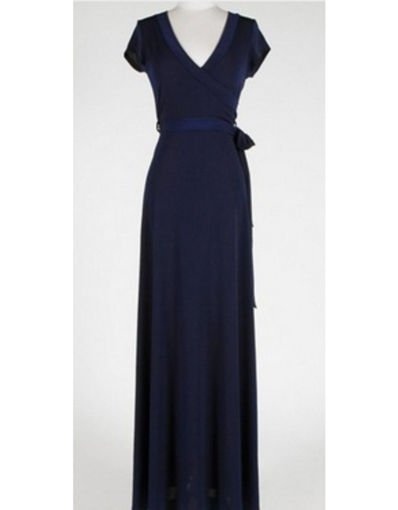 BRIDGE CAP MAXI WRAP DRESS