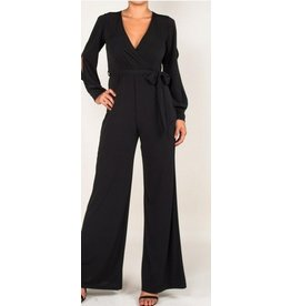 BRIDGE OPEN JUMPSUIT- BLACK