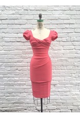 BILLION DOLLAR BABY FITTED DRESS-CORAL