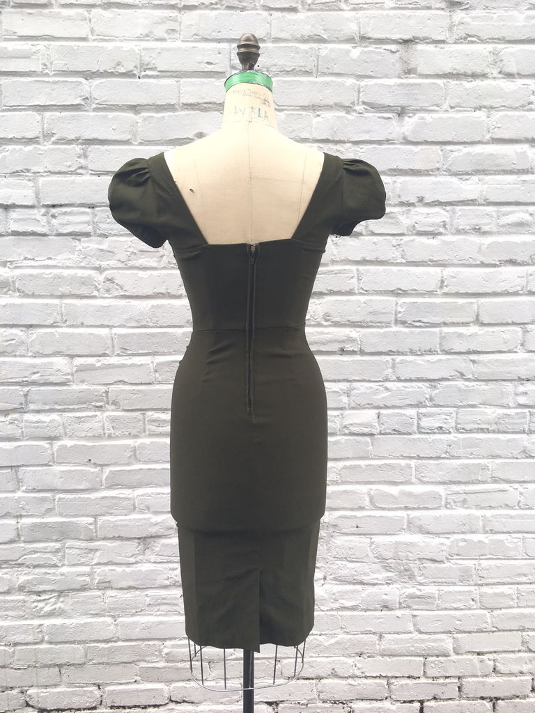 BILLION DOLLAR BABY FITTED DRESS- ARMY