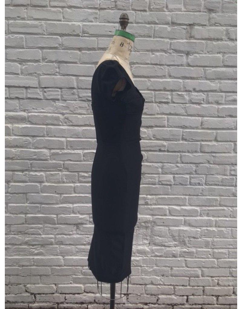 BILLION DOLLAR BABY FITTED DRESS- BLACK