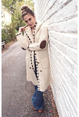 Longline double breasted cardigan