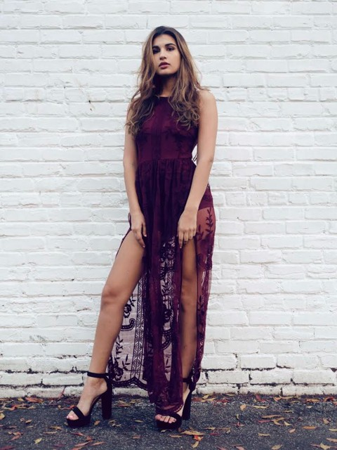 JOSIE SHEER MAXI DRESS
