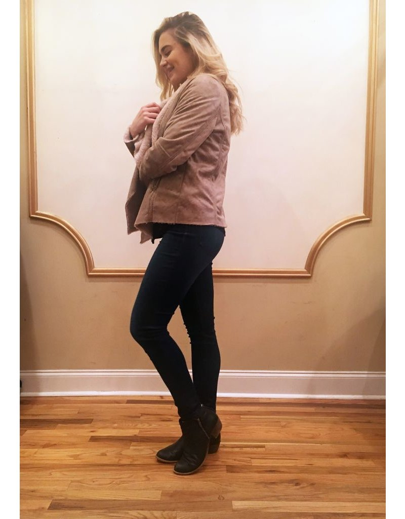 CHILLY DAYS FAUX SUEDE JACKET