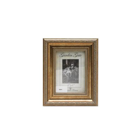 Lawrence Frames Burnished Sorrento Gold Carved with Inner Bead Picture Frame,