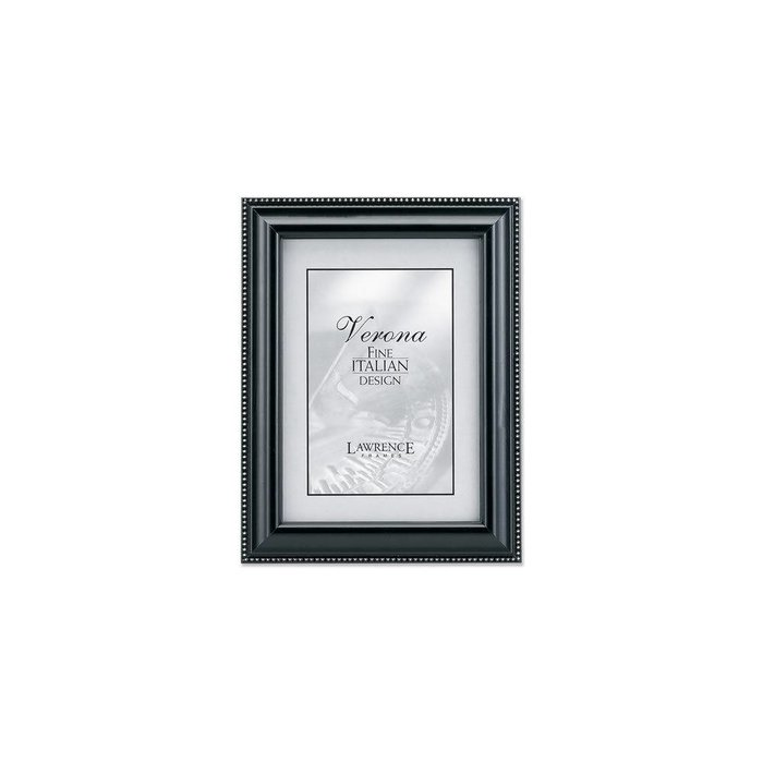 Lawrence Frames Black Wood & Silver Bead Picture Frame,