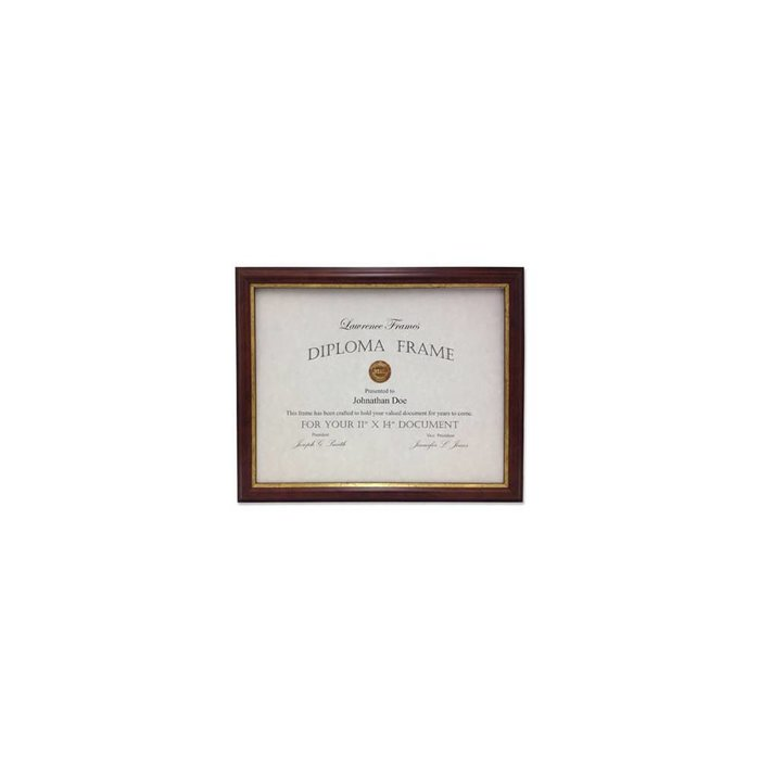 Lawrence Frames Walnut and Gold Diploma Frame,