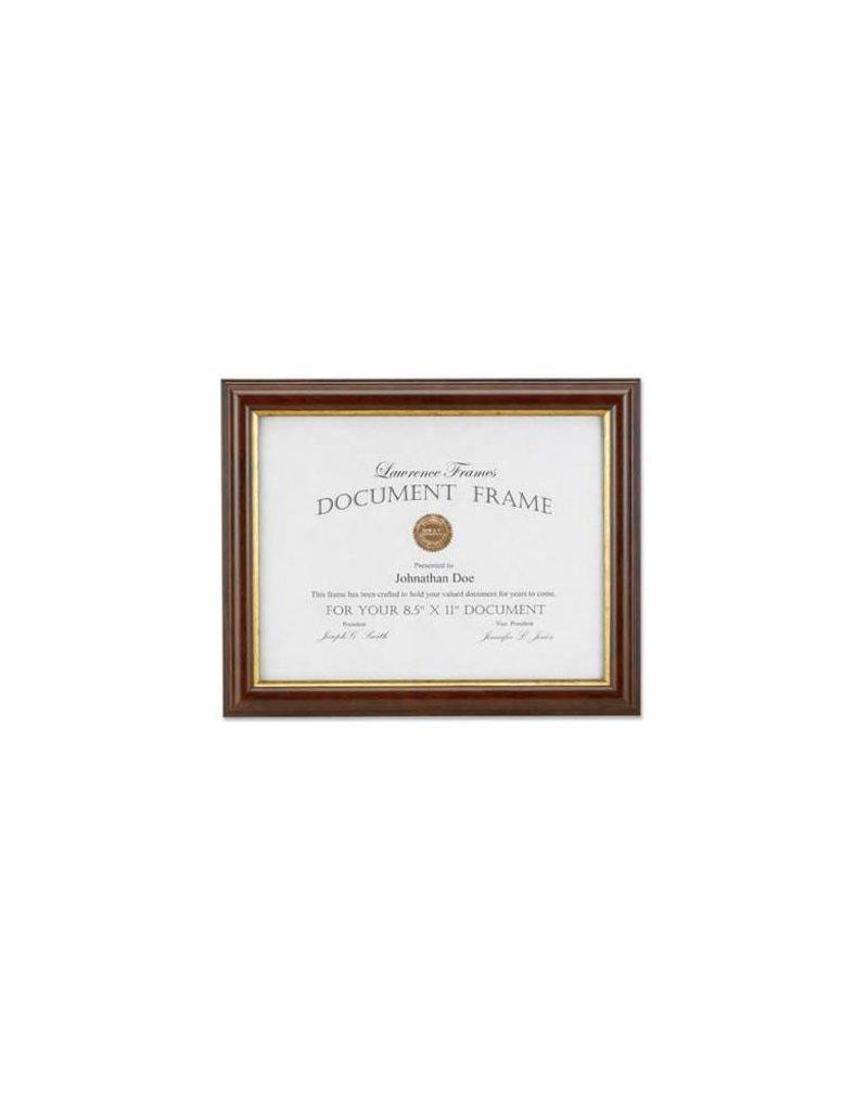 Lawrence Frames Lawrence Frames Walnut and Gold Diploma Frame,