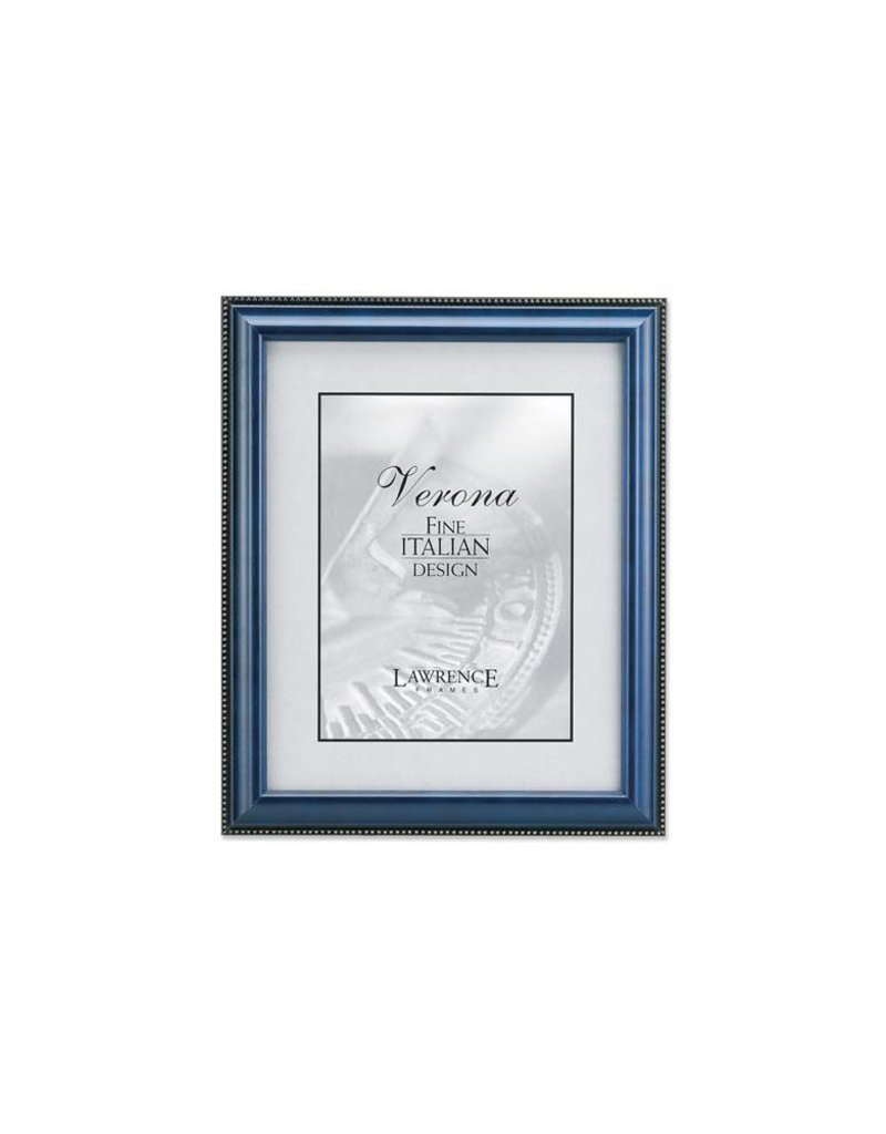 Lawrence Frames Lawrence Frames Blue Wood & Gold Bead Picture Frame,