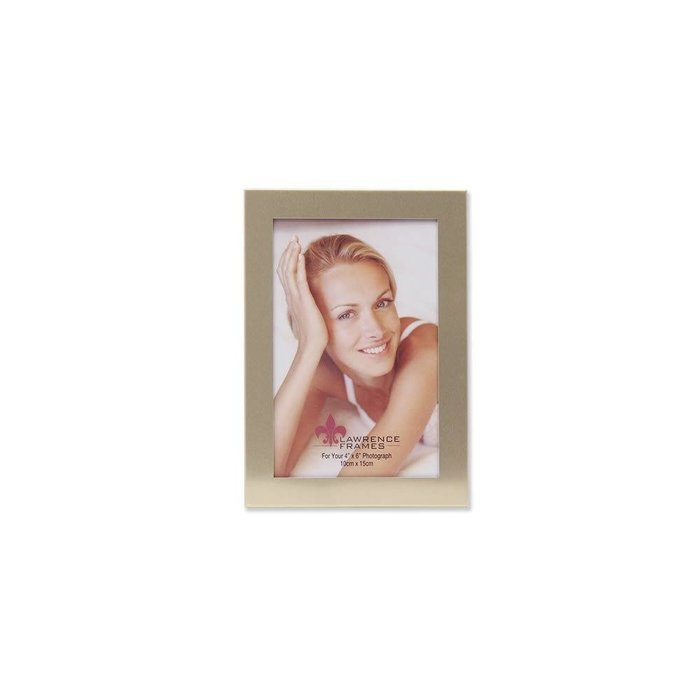 Lawrence Frames Brushed Gold Aluminum Picture Frame,