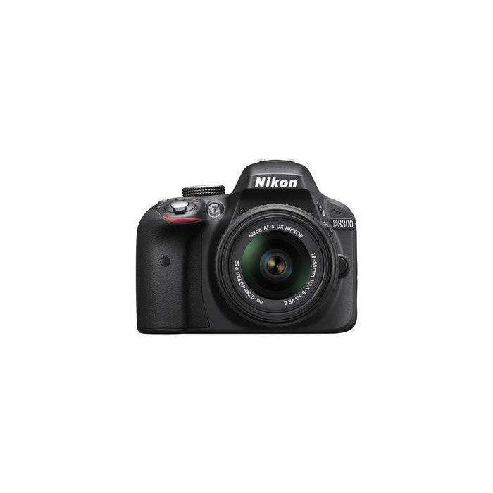 Nikon D3300 DSLR Camera Body w/18-55mm f/3.5-5.6G VR II Lens,