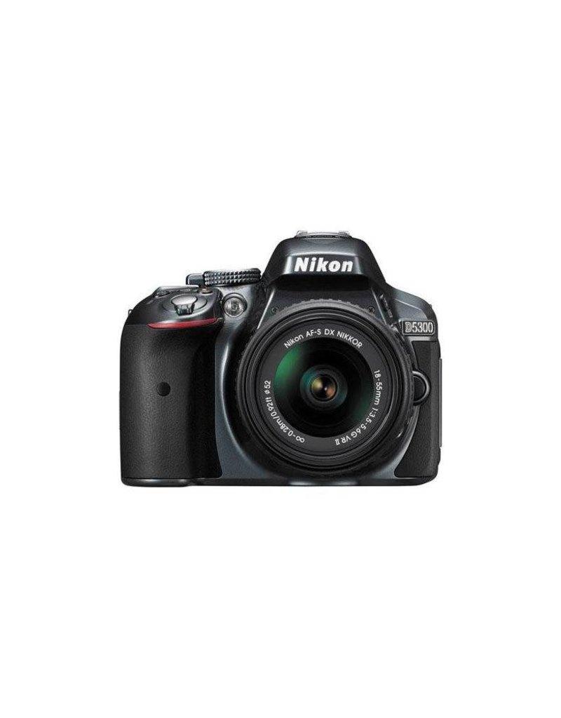 Nikon Nikon D5300 24.1MP DX-Format Digital SLR Camera with AF-S DX NIKKOR 18-55mm f/3.5-5.6G VR II Lens,