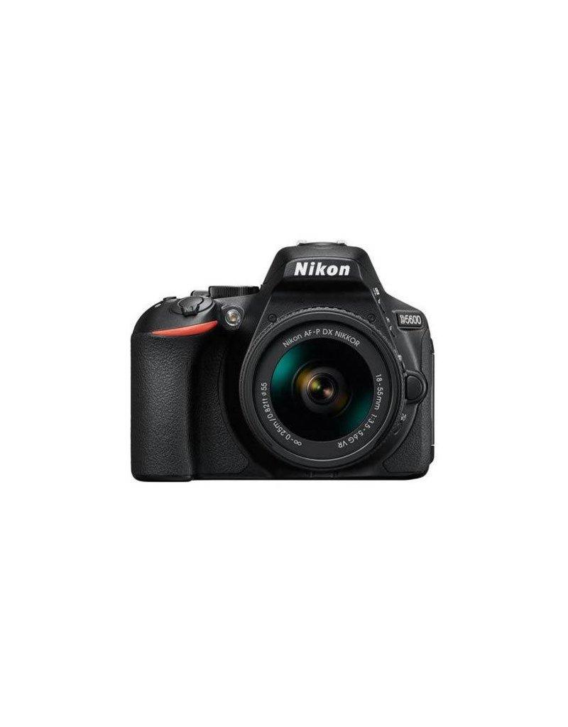 Nikon Nikon D5600 Digital SLR Camera Kit with AF-P DX NIKKOR 18-55mm f/3.5-5.6G VR Lens, Black