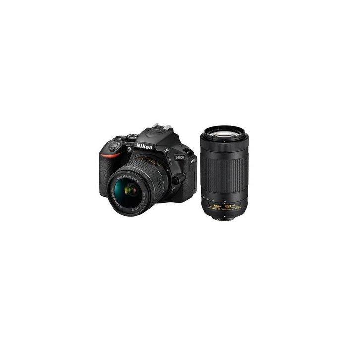 Nikon D5600 DSLR Camera Kit w/AFP DX 18-55mm f/3.5-5.6G VR & AFP DX 70-300/4.5-6.3G Lenses