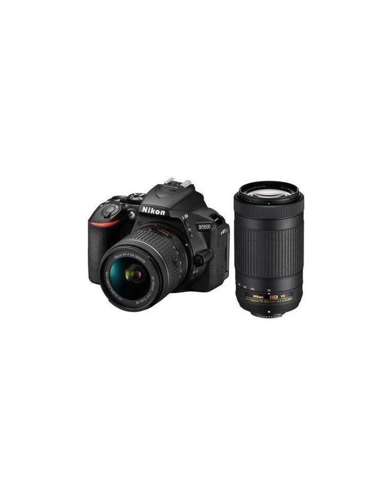 Nikon Nikon D5600 DSLR Camera Kit w/AFP DX 18-55mm f/3.5-5.6G VR & AFP DX 70-300/4.5-6.3G Lenses