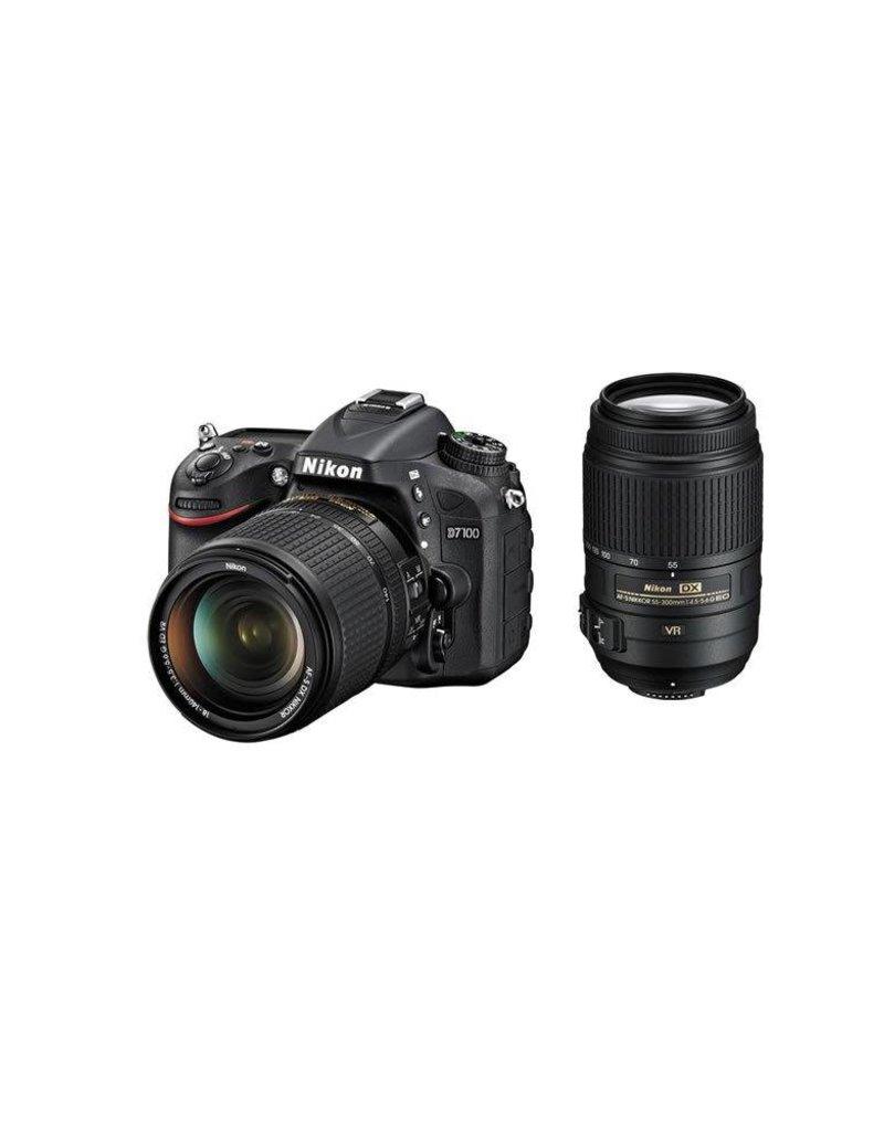 Nikon Nikon D7100 DX-format 24.1MP DSLR Camera Kit with NIKKOR 18-140mm f/3.5-5.6G ED VR Lens & NIKKOR 55-300mm f/4.5-5.6G ED VR Lens