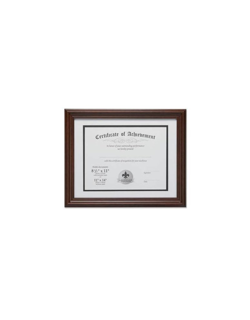 Lawrence Frames Lawrence Frames Dual Use Diploma Frame with Double Bevel Cut Matting ,