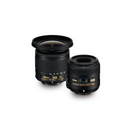 Nikon Nikon Landscape & Macro 10-20mm f/4.5-5.6 and 40mm f/2.8 Two Lens Kit