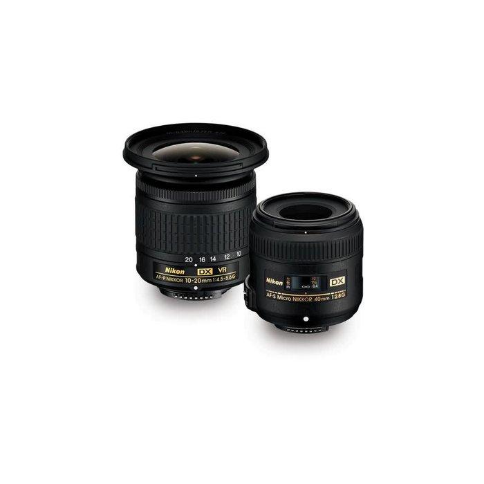 Nikon Landscape & Macro 10-20mm f/4.5-5.6 and 40mm f/2.8 Two Lens Kit
