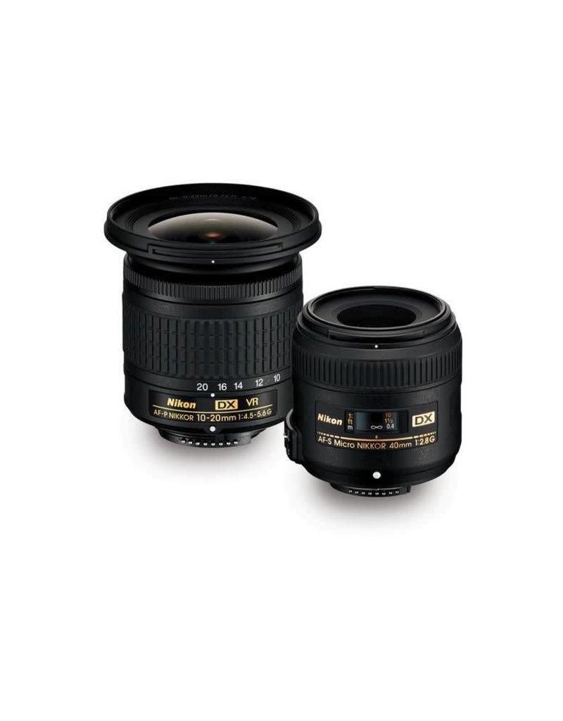 Nikon Nikon Landscape & Macro 10-20mm f/4.5-5.6 and 40mm f/2.8 Two Lens Kit