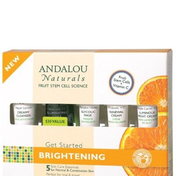 Andalou Naturals Andalou Get Started Brightening Kit 5 pcs