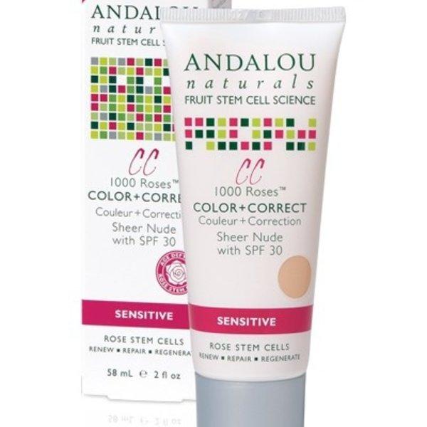 Andalou Naturals Andalou 1000 Roses CC Sheer Nude SPF 30 58ml