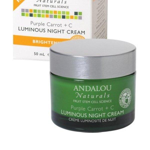 Andalou Naturals Andalou Brightening Purple Carrot + C Luminous Night Cream 50ml