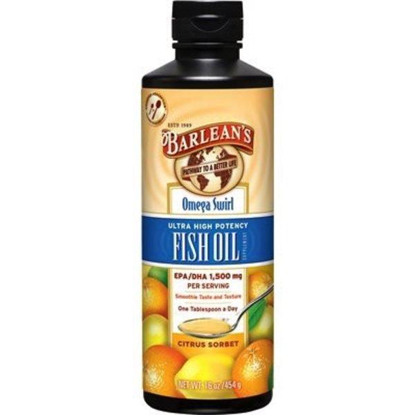 Barlean's Barlean's Fish Oil Omega Swirl Citrus Sorbet 454g