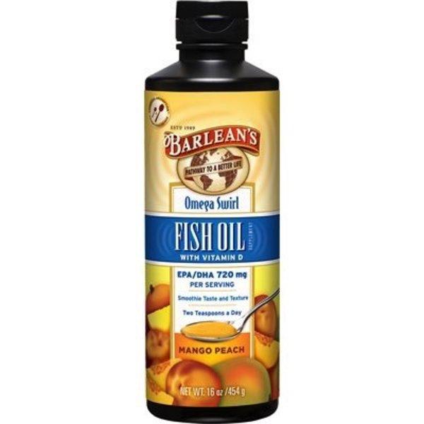 Barlean's Barlean's Fish Oil Omega Swirl Mango Peach 454g