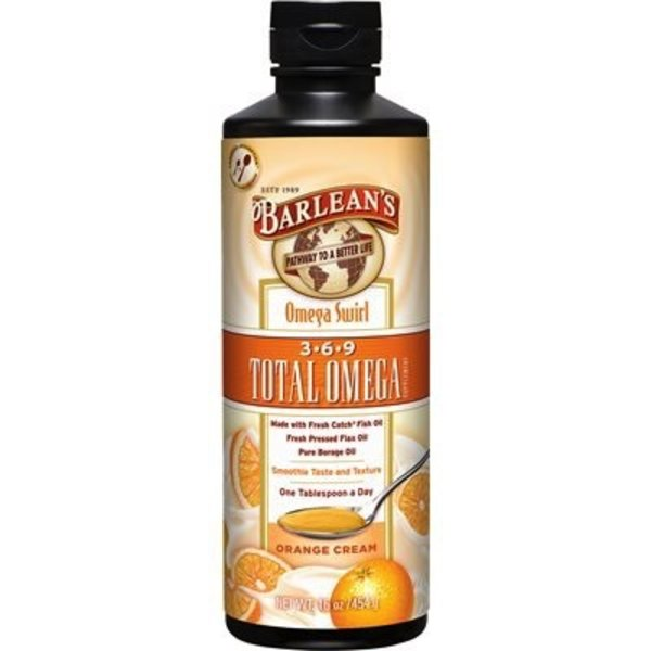 Barlean's Barlean's Total Omega Swirl Orange Cream 454g