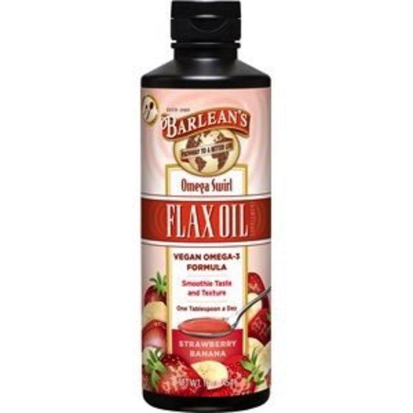 Barlean's Barlean's Flax Oil Omega Swirl Strawberry Banana 454g